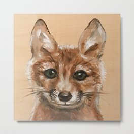 Nursery Art / Decor - Woodland bay fox Metal Print