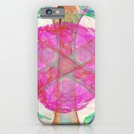 Fractal Art Gardenia Nebula iPhone Case