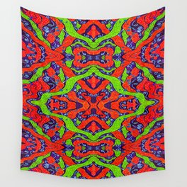 Fluoro Snake Pattern Wall Tapestry