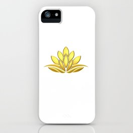 Golden Lotus Flower. Power and Protection iPhone Case