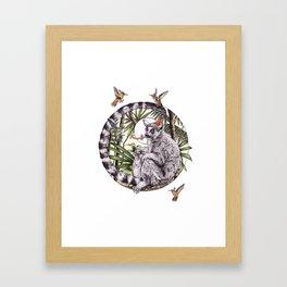 Party Lemur Framed Art Print