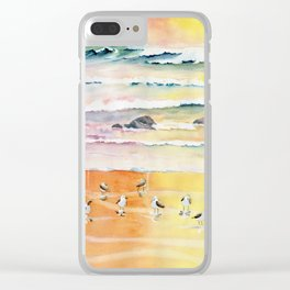 Sandpipers on Beach Clear iPhone Case