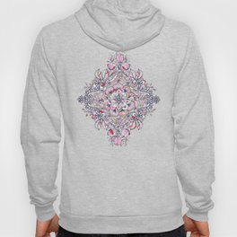Floral Diamond Doodle in Red and Pink Hoody