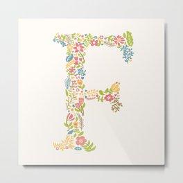 Alphabet F Metal Print
