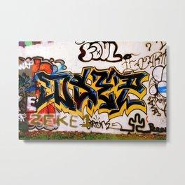 Black and Yellow Tag Metal Print