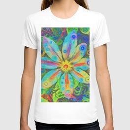 Neural Dream Clematis T-shirt