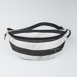 Marble Stripes Pattern 2 - Black and White Fanny Pack