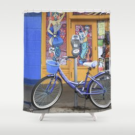 New Orleans Frenchman Bicycle Shower Curtain
