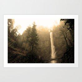 Multnomah Falls - Upper Falls Art Print