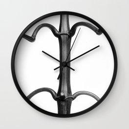 Karl Blossfeldt Botanical Print II Wall Clock
