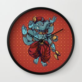 Dancing Ganesha  Wall Clock