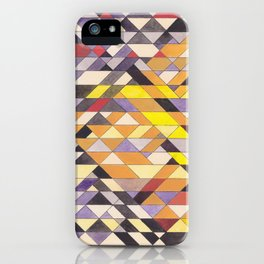 Triangle Pattern No.8 Black and Yellow iPhone Case
