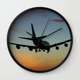 747 Sunset Landing Wall Clock