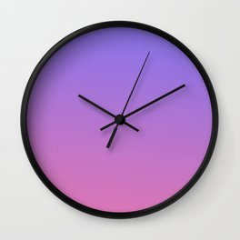 PURPLE COLOR TRANSITION Wall Clock