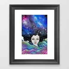cosmic petals Framed Art Print