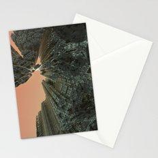 City On Fire (3D Digital Fractal Art) Stationery Cards