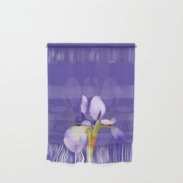 Purple Iris With Fading Iris and Purple Background Wall Hanging