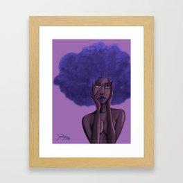 Afro Blu Framed Art Print