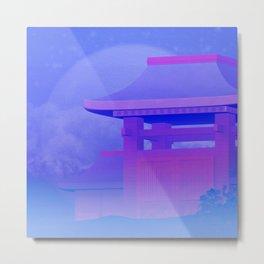 Temple under the moonlight Metal Print