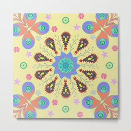 Monster Mandala Metal Print