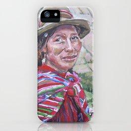 Woman in Peru iPhone Case