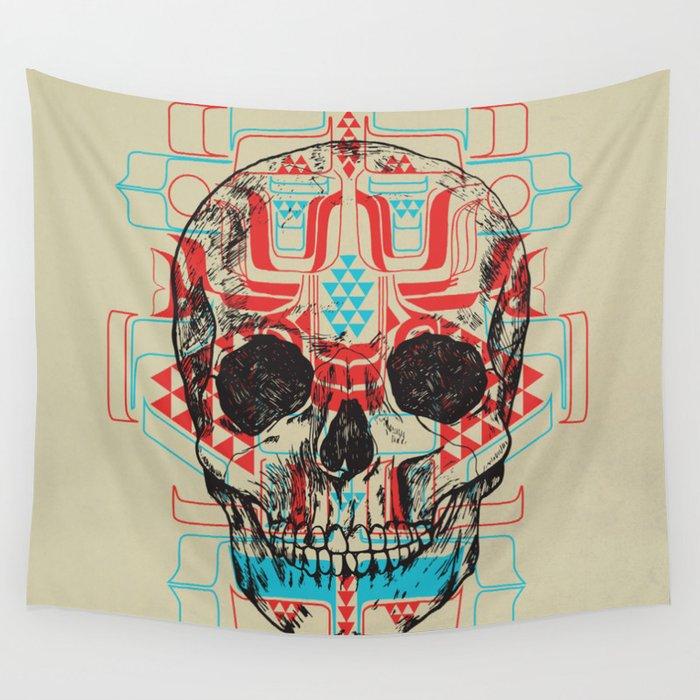 Skull Native Wall Tapestry
