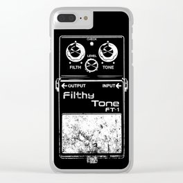 Filthy Tone Guitar Pedal Clear iPhone Case