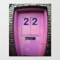 Pink Door Canvas Print