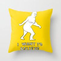 i want to believe Throw Pillows featuring I want to believe by sharon
