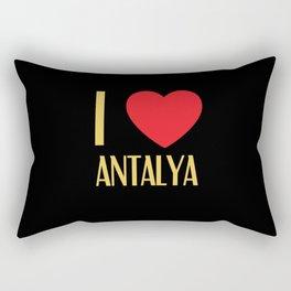 I Love Antalya City Rectangular Pillow