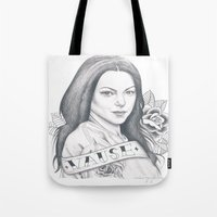 alex vause Tote Bags featuring Alex Vause by Melina Espinoza