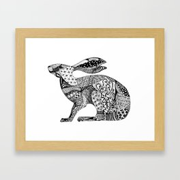MIllicent The Crouching Hare Framed Art Print