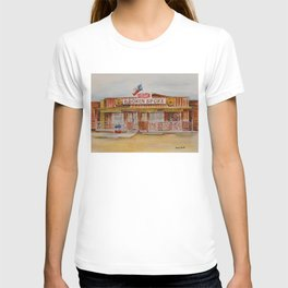 The Broken Spoke - Austin's Legendary Honky-Tonk Watercolor Painting T-shirt