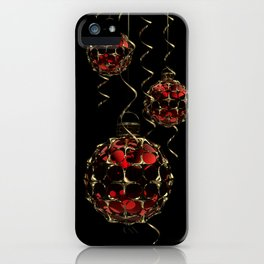 Christmas Baubles & Ribbons iPhone Case