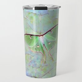 Glowing Luna Moth Travel Mug