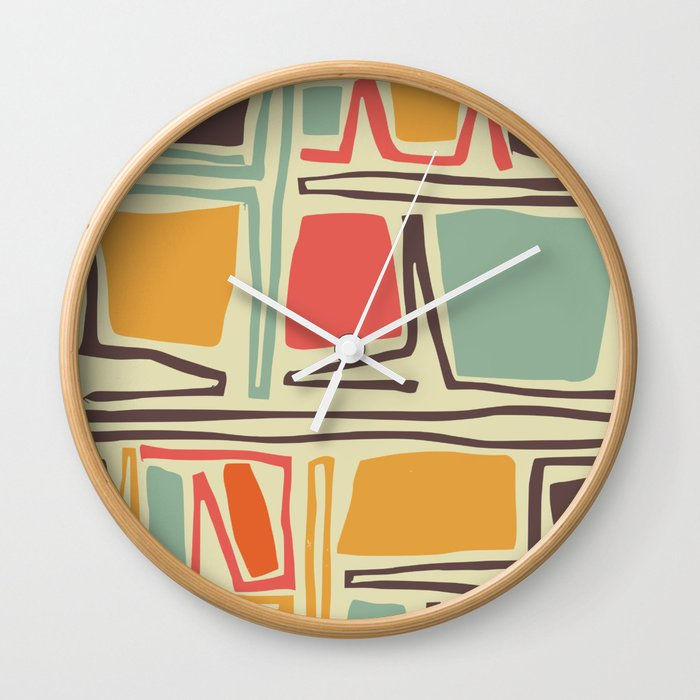 Whimsical abstract pattern design Wall Clock