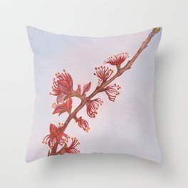 Almond Branch Throw Pillow