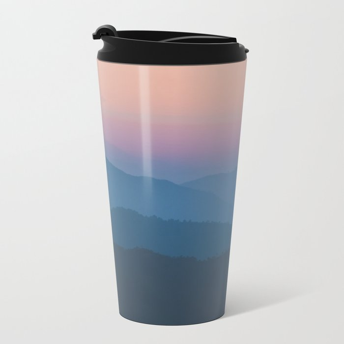 Sunset over Nepal Metal Travel Mug