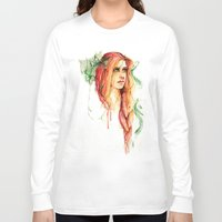 flora Long Sleeve T-shirts featuring Flora by ArtbyLumi
