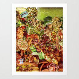 Food Collage 5 Art Print