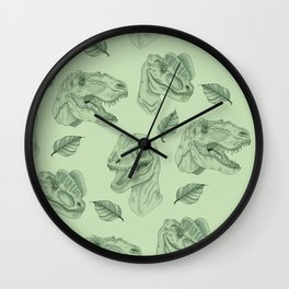 Dino Damage Wall Clock
