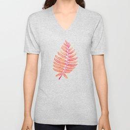 Fern Leaf – Peachy Pink Palette Unisex V-Neck