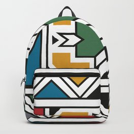 African Tribal Pattern No. 166 Backpack