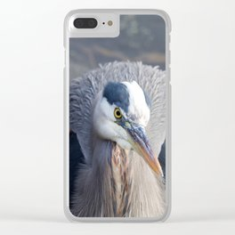 Watchful Heron Clear iPhone Case