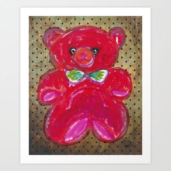 mr teddy  Art Print