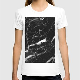 modern chic minimalist abstract black marble T-shirt