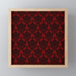 Crimson Damask Framed Mini Art Print