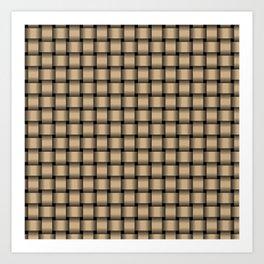 Small Tan Brown Weave Art Print