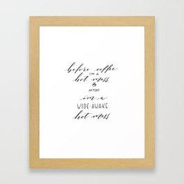 wide awake hot mess Framed Art Print