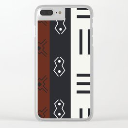 African Tribal Pattern No. 66 Clear iPhone Case